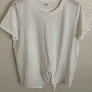 Madewell Knot / Tie Front T-shirt